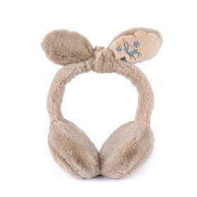 Plyšové klapky na uši Funny bunny Hnědé