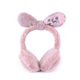 Plyšové klapky na uši Funny bunny Rúžové