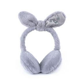 Plyšové klapky na uši Funny bunny Šedé