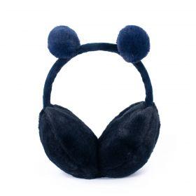 Plyšové klapky na uši Funny bear Modré