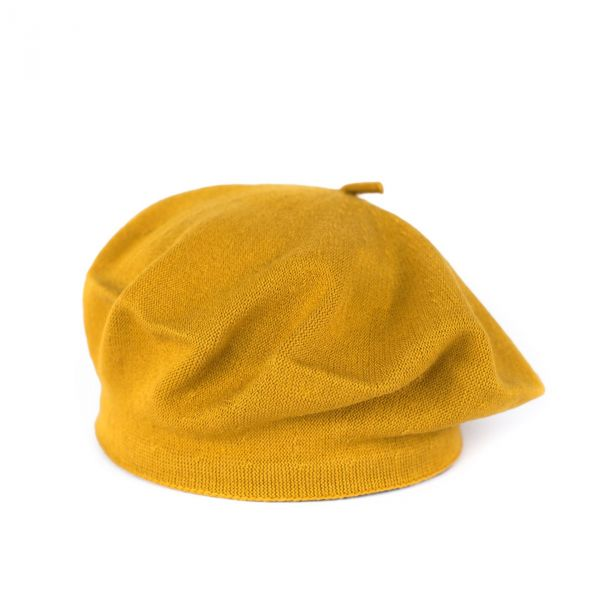 Dámský baret Neapol Hořčicová