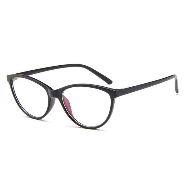 Antireflexní brýle bez dioptrii Cat Girl Černé
