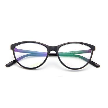 Brýle blokující modré světlo bez dioptrii Cat Girl Černé