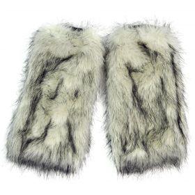 Kožešinové návleky na boty Yeti Bílé 40 cm