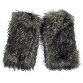 Kožešinové návleky na boty Yeti Černé 40 cm
