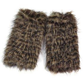 Kožešinové návleky na boty Yeti Hnědé 40 cm