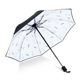 Dámský skládací deštník Lístek s kočičkou