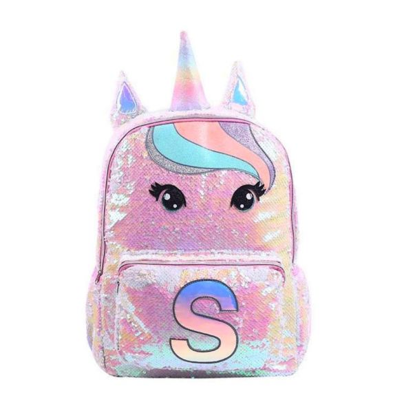 Who Cares flitrový batoh jednorožec Pinkie Eyes