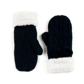 Dámské palčáky rukavice s bambulí Černé