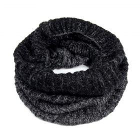 ArtOfPolo kruhový pletený šál komín Černý
