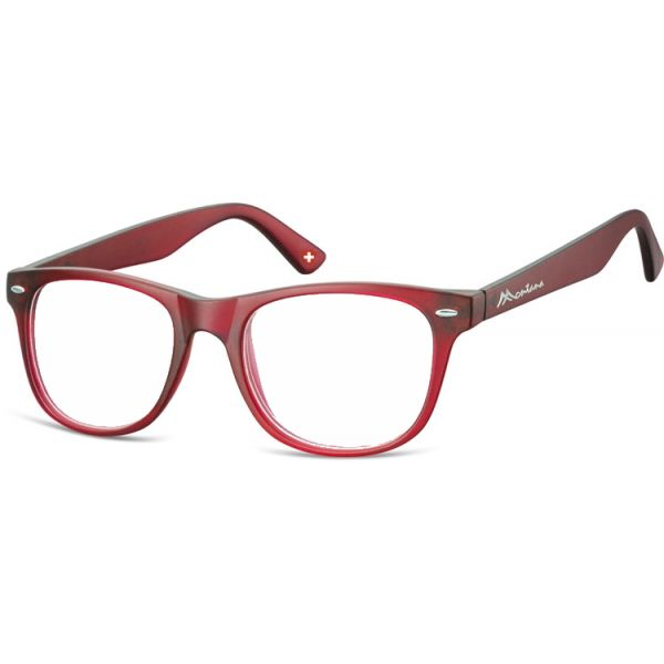 Antireflexní brýle na počítač bez dioptrii MX67 červené