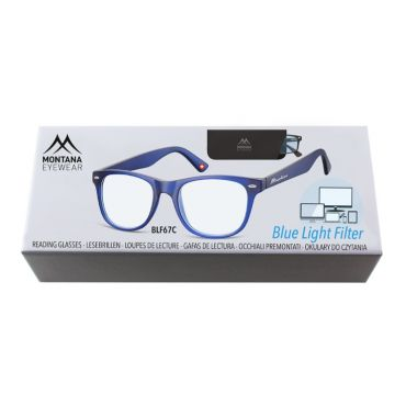 Antireflexní brýle na počítač bez dioptrii MX67 modré