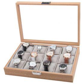 Box na hodinky 12 komor Wood craft Hnědý