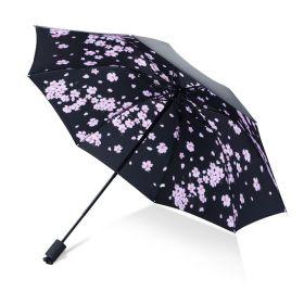 Dámský skládací deštník Jarní růžové květy