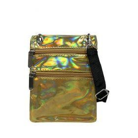Cavaldi Holografická etue kabelka Zlatá