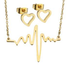 Souprava šperků z chirurgické oceli Heart Rate