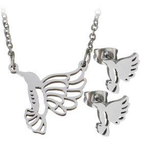 Souprava šperků z chirurgické oceli Kolibřík