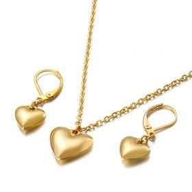 Souprava šperků z chirurgické oceli Srdce z Lásky