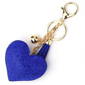 Přívěsek na kabelku klíčenka srdce Modré