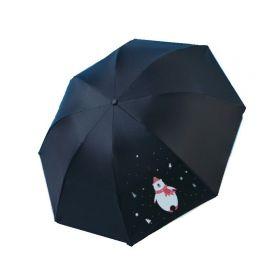 Dívčí skládací deštník Černý medvěd