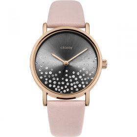 Classy dámské hodinky Shine Black s krystaly