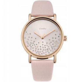 Classy dámské hodinky Shine White s krystaly