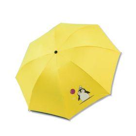 Dívčí skládací deštník Žlutý tučňáček