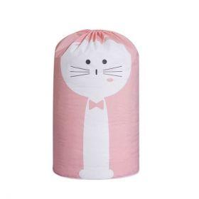 Plastový vak na hračky na prádlo Růžové kotě