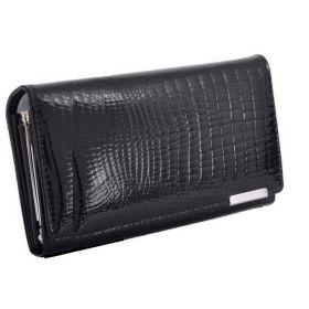 Jennifer Jones dámská kožená Longaway peněženka Černá