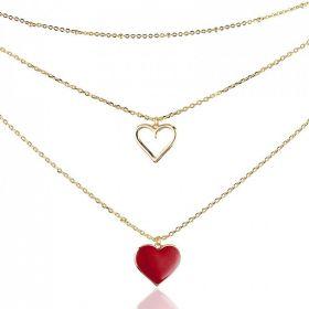 Ocelový náhrdelník Two in Love Heart