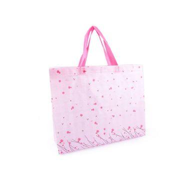 Nákupní taška s květy velká 34x41 cm