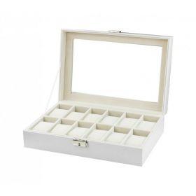 Box na hodinky 12 komor Bílý