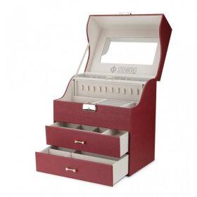 Stenberg elegantní kufřík na šperky ETUI Bordó