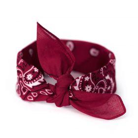 Bavlněný šátek Bandana Bordový