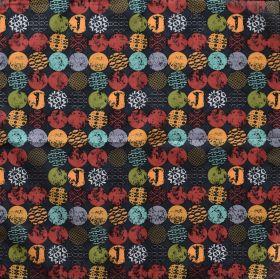 Bavlněný šátek Barevné puntíky