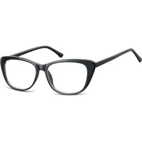 Dámské brýle bez dioptrii Kočičí oči- černé