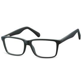Obdelníkové brýle bez dioptrii Unfailing- černé