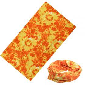 Multifunkční šatka Batikovaná Oranžová 40x22cm