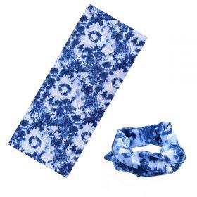 Multifunkční šatka Batikovaná Modrá 48x25cm