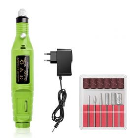 Elektrická bruska na umělé nehty 10W Zelená
