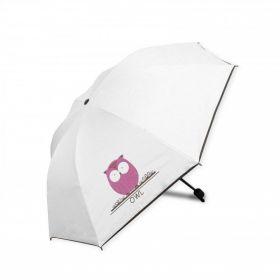 Dámský skládací deštník Bílý Sovička