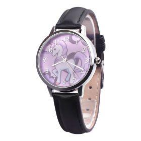 Dívčí hodinky s jednorožcem Černé