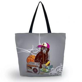 Huado nákupní a plážová taška - Opice na tahu