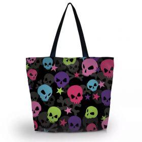 Huado nákupní a plážová taška - Happy Skulls