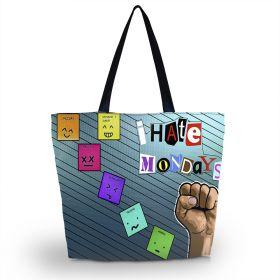 Huado nákupní a plážová taška - I hate mondays