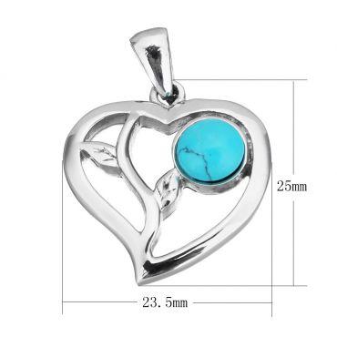 Přívěsek z chirurgické oceli - Srdce z lásky