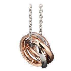 Ocelový náhrdelník Wonderful World Rings Zlatý