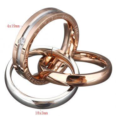 Ocelový přívěsek Wonderful World Rings Zlatý