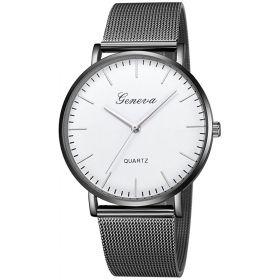 GENEVA kovové hodinky černé BloW Silver