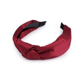 Saténová čelenka do vlasů s uzlem Červená